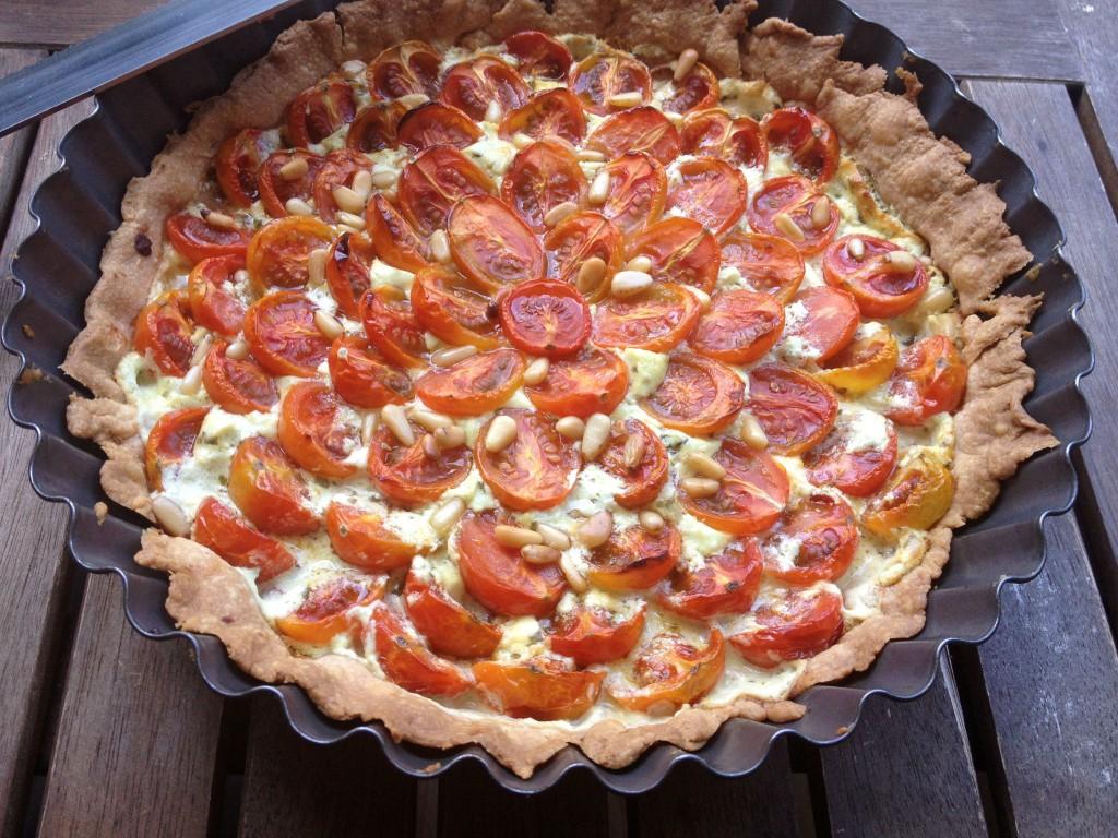 Tarte Aux Tomates Cerise Chevre Et Basilic The Happy Cooking Friends