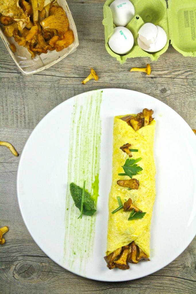 Omelette chanterelles 5