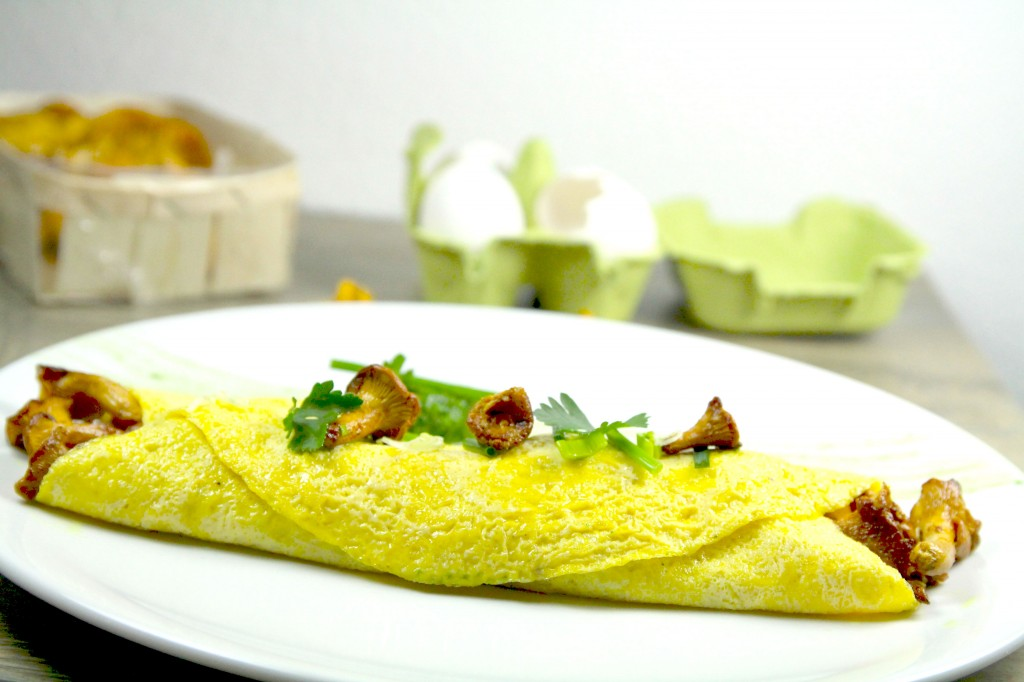 Omelette chanterelles 6