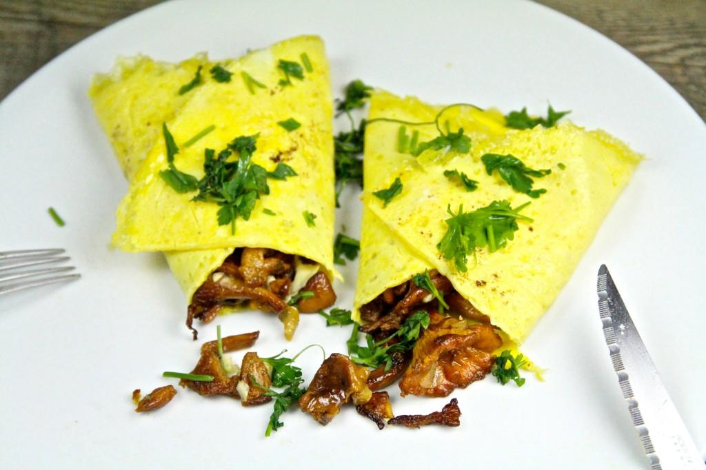 Omelette chanterelles 11
