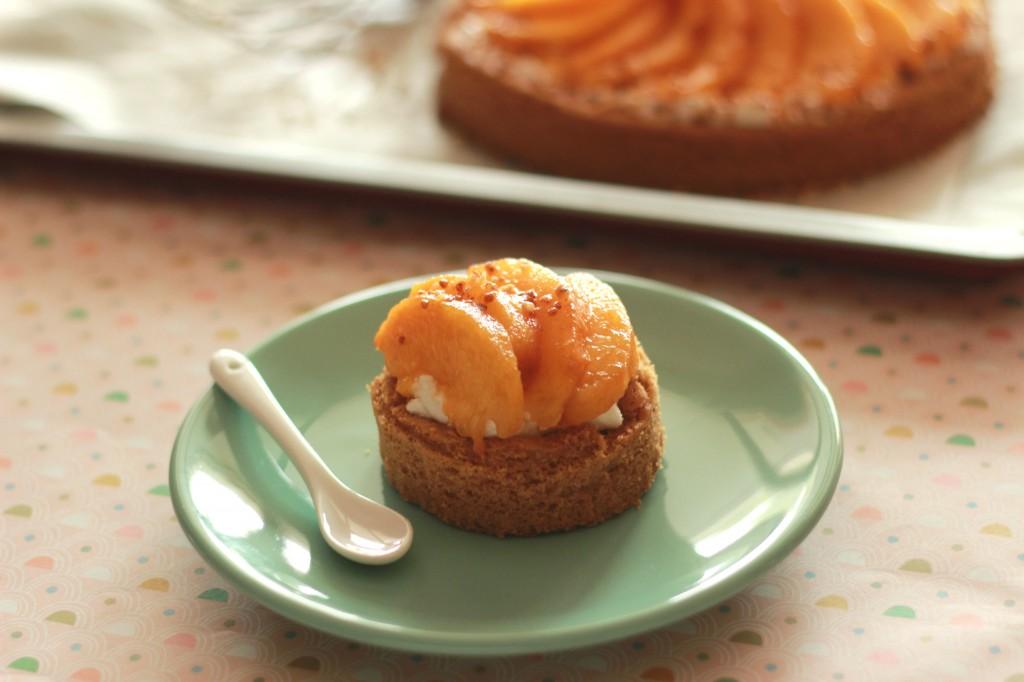 tarte sablée breton mascarpone fouetté nectarines jaunes tarte ...