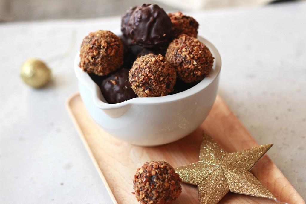 Truffes Au Chocolat Et Pralin De Cacahuetes The Happy Cooking Friends