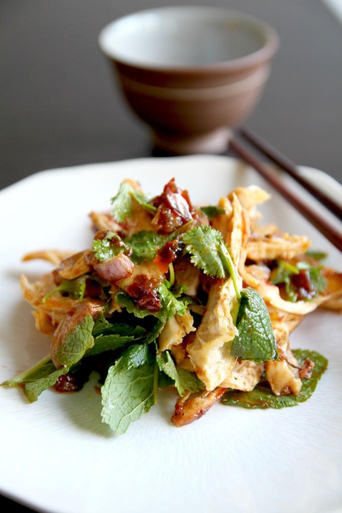salade de poulet thai la confiture de piment the happy cooking friends. Black Bedroom Furniture Sets. Home Design Ideas