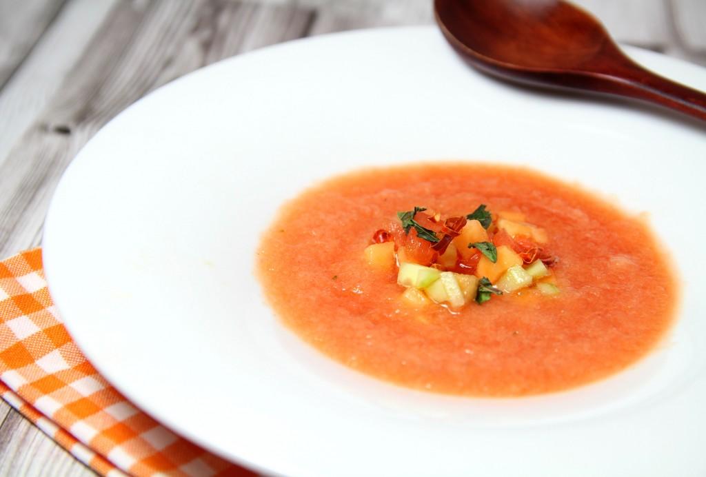Soupe froide melon pasteque 1